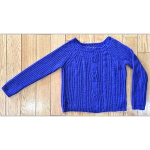Large Royal Blue Forever 21 Sweater